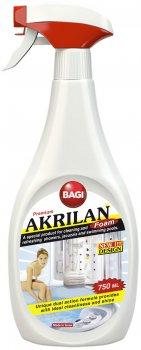Очисний засіб Bagi Акрилан для акрилових ванн і душова кабін Bagi 750 мл (7290003395590)