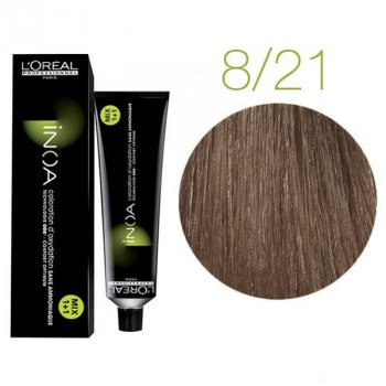 Крем-краска для волос L'Oreal Professionnel INOA 8/21 Темный русый 60 мл
