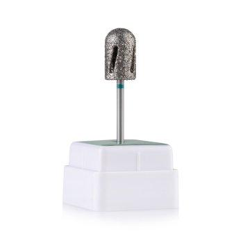 Фреза алмазна Nail Drill Twister - 488 010, для педикюру, діаметр 10 мм (зелена насічка)