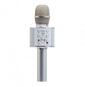 Мікрофон-Колонка Hoco BK3 Cool (Сталевий)