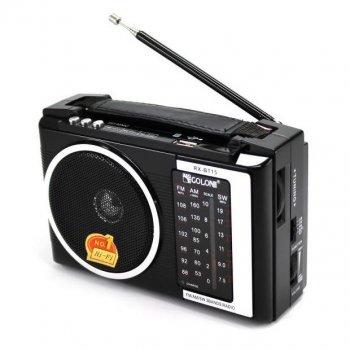 Акустическая система Golon радиоприемник колонка радио Bluetooth с USB входом Чёрная (RX16BT)