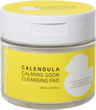 Подушечки косметические с тоником Wellderma Очищение Calendula Calming Soon Cleansing Pad 60 шт (8809502183653)