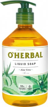 Жидкое мыло O'Herbal с экстрактом алоэ вера 500 мл (5901845506281)