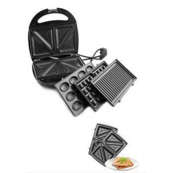 Вафельниця горішниця сендвичница гриль мультимейкер зі знімними формами Livstar LSU-1219 4 в 1 (Про-0087-Z)