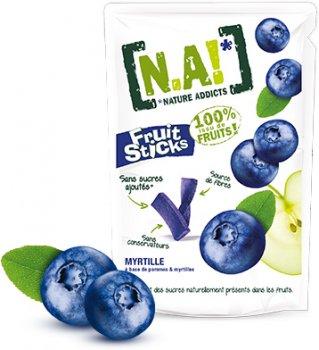 Упаковка фруктових стиків Nature Innovation Чорниця 40 г х 10 шт. (3609209003712)