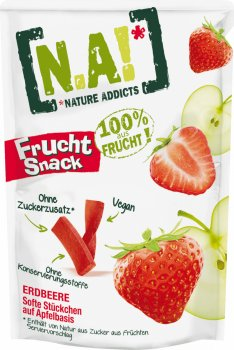 Упаковка фруктових стиків Nature Innovation (N.A!) Полуниця 35 г х 10 шт. (3609209000933)