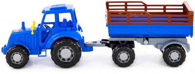 Игрушка Polesie (Полесье) Трактор Мастер с прицепом №2 Синий (84781) (4810344084781)
