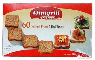 Упаковка тостов Diatosta Minigrill Пшеничные 120 г х 4 шт (5601560111882)