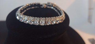 Браслет MINOV 0599 трехрядный покрытие под серебро 17,5 см