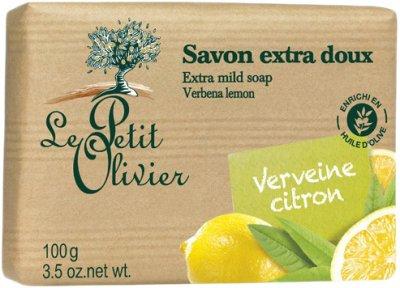 Экстра нежное мыло Le Petit Olivier 100% vegetal oils soap Вербена и Лимон 100 г (3549620005301)