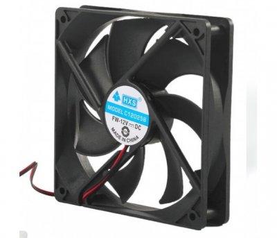 Вентилятор Merlion HXS 12025 (CC-120*120*25/4/00177), 120x120x25мм, 4-pin, Black