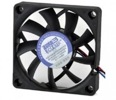 Вентилятор PCCooler F72 (16392), 70х70х15мм, 3-pin+Molex, Black