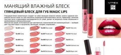 Вітекс декор, БЛИСК Глянцевий для губ MAGIC LIPS, тон 807 Powder pink, 3 г(4810153033406)