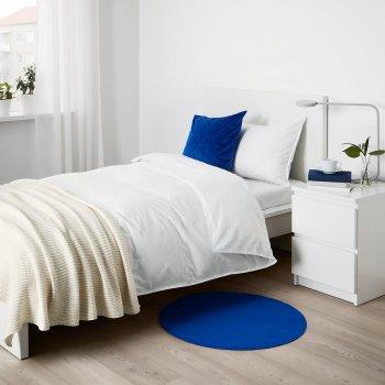 Килим з коротким ворсом IKEA RISGARDE 70 см синій (204.156.97)