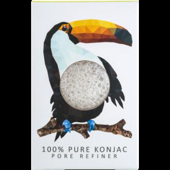 Спонж для особи Konjac sponge з чистого конжаку маленький (тропічної тукан)