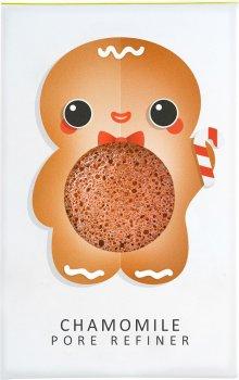 Спонж для особи Konjac sponge маленький Christmas Gingerbread Man