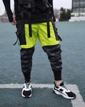 Спортивные штаны Over Drive Andr черно-салатовые