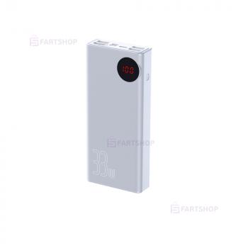 УМБ Baseus Mulight 33W 30000mAh White Павербак для смартфона Power Bank Портативне універсальний зарядний пристрій батарея для телефона гаджетів (24019)