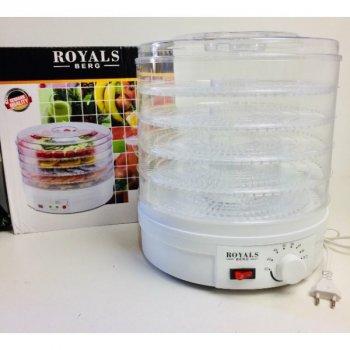 Сушилки для овощей и фруктов Royals Berg Rb-959 электрическая 800Вт 5 секций Белая