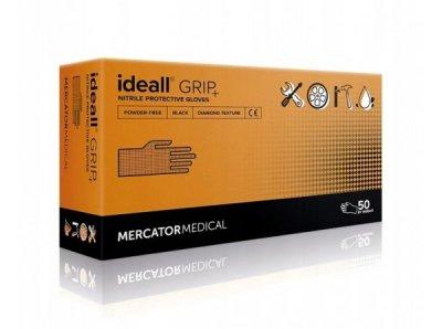 Перчатки Нитриловые Неопудренные MERCATOR MEDICAL Черные М (50 шт)