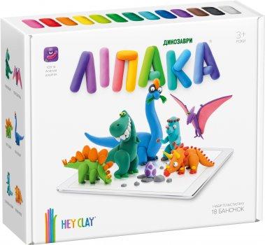 Набор пластилина Липака Динозавры 18 баночек Разноцветный (s006dinos)