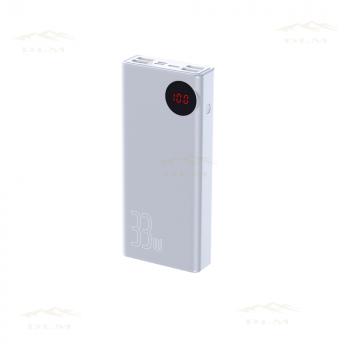 Портативна батарея PowerBank Baseus Mulight з підтримкою PD3.0 і QC3.0 Потужність 33W Ємність 30000mAh УМБ Портативне універсальний зарядний пристрій для телефону гаджетів Павербак для смартфона White (24019)