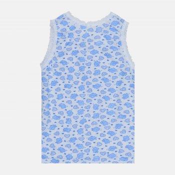 Майка Модный карапуз 306-00008 Белая с голубым