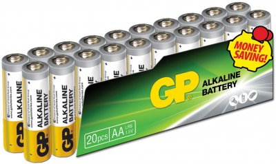 Батарейки GP SUPER ALKALINE 1.5 В 15AEPL-2VS20, LR6, AA 20 шт (4891199147470)