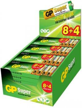 Батарейки GP 24A8/4-2UE12 щелочная LR03 AAA Блистер 12 шт (4891199185311)