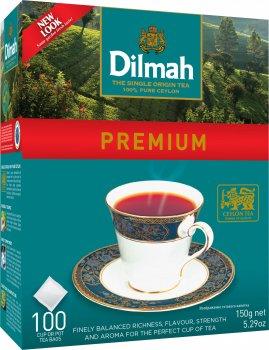 Чай черный в пакетиках Dilmah Премиум 100 шт х 1.5 г (9312631122657)