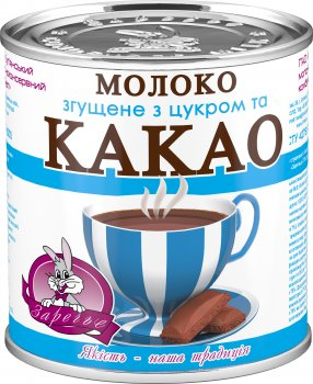 Упаковка молока сгущенного Заречье с сахаром и какао 7.5% 370 г х 3 шт (4820001076851)