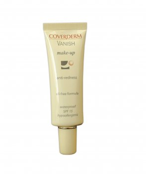 Тональный крем для коррекции покраснения лица купероза и розацеи Coverderm Vanish Make-Up SPF 15 №6 30ml (5201580229064)