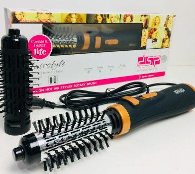 Вращающаяся Фен-щетка для укладки браш lDSP-50046 1000 Вт на 2 скорости и 3 температурных режима Black