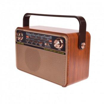Радіо акумуляторне з Bluetooth і пультом управління Kemai Retro Brown MD-505-BT