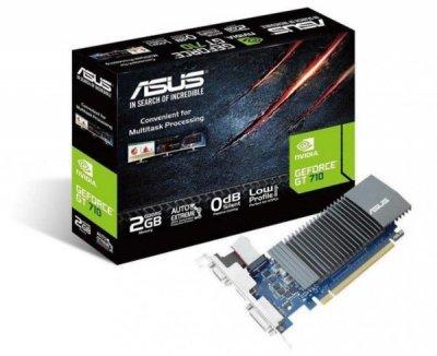 Відеокарта Asus GeForce GT 710 2GB GDDR5 (64-bit) (954/5012) (VGA, DVI, HDMI) (GT710-SL-2GD5-BRK)
