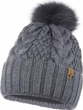 Зимняя шапка Anmerino Дарина 56-58 см Графитовая (4823055555341)