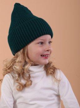 Демисезонная шапка Anmerino Стрикт 50-52 см Темно-бирюзовая (4823055580336)