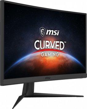 "Монітор MSI 23.6"" Optix G24C6 VA Black Curved; 1920x1080 (144 Гц), 250 кд/м2, 1 мс, DisplayPort, 2хHDMI"