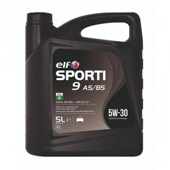Моторное масло Elf Sporti 9 Long Life A5/B5 5W-30 масло для двигателя 5 л