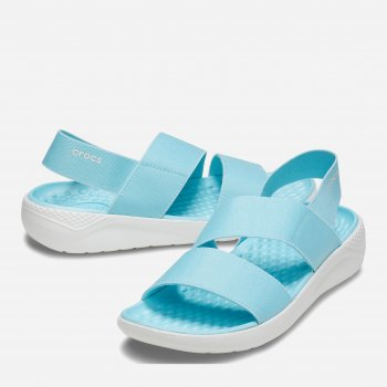 Сандалии Crocs Women's LiteRide Stretch Sandal 2 206081-4KP Neo-Turquoise/Almost White