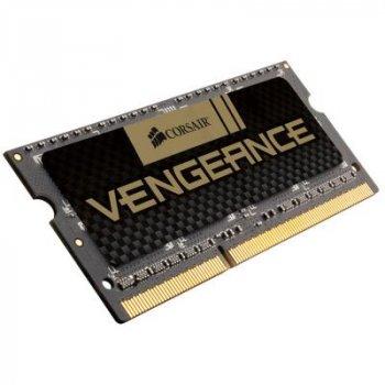 Модуль пам'яті для ноутбука SoDIMM DDR3 8GB 1600 MHz Vengeance Black CORSAIR (CMSX8GX3M1A1600C10)