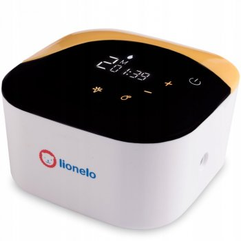 Молоковідсмоктувач електричний LIONELO TWEE подвійною з LED дисплеєм + аксесуари 800 мАч Білий/Жовтий