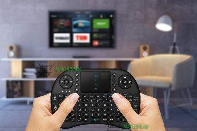 Беспроводная мини клавиатура Smart I8 2.4G с тачпадом русско-английская раскладка с аккумулятором USB (L0171)