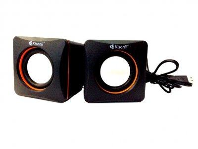 Настольные проводные мини колонки Kisonli V400 для ПК ноутбука телефона маленькая usb акустика