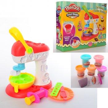 Игровой набор для творчества пластилин Play Doh Мороженное с аппаратом пресса