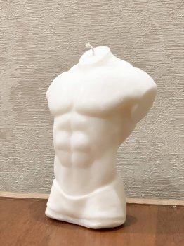 """Свічка """"Чоловіче тіло"""" з натурального соєвого воску, 9 см (1704214202)"""