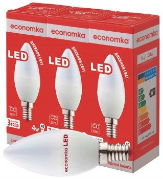 Світлодіодна лампа Economka LED CN 4 Вт E14 4200 K (3 шт.)