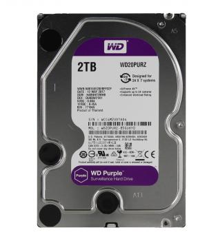 "Жорсткий диск 3.5"" 2Tb Western Digital Purple, SATA3, 64Mb, 5400 rpm (WD20PURZ)"