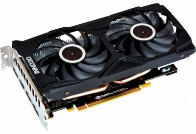 INNO3D PCI-Ex GeForce RTX 2060 Twin X2 6GB GDDR6 (192bit) (1680/14000) (HDMI, 3 x DisplayPort) (N20602-06D6-1710VA15L)