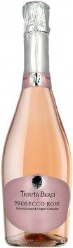 Вино ігристе Tenuta Berni Prosecco Rose Vino Spumante DOC Brut Millesimato рожеве брют 0.75 л 11% (8010719014238)